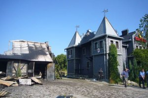 В Ивано-Франковске взорвали гостиничный комплекс к Евро-2012