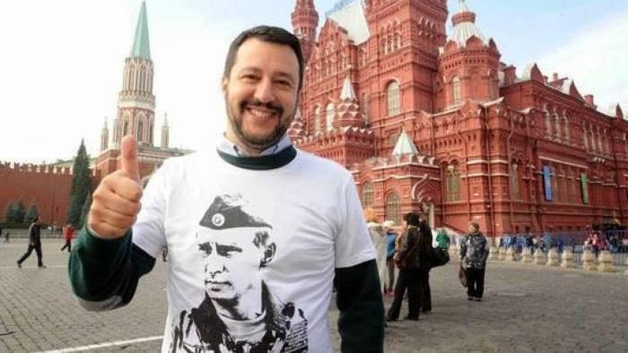 Маттео Сальвини во время визита в Москву в 2017 году