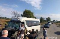 10 людей пострадали в результате столкновения маршрутки с грузовиком в Днепропетровской области