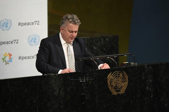 Постійний представник України в ООНСергій Кислиця під час виступу на радбезі ООН