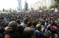В Чили многотысячная акция протеста переросла в стычки с полицией