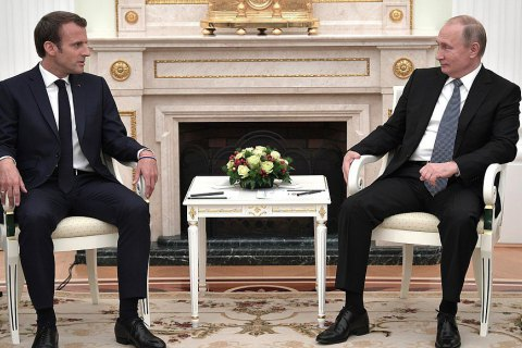 Макрон и Путин встретились перед финалом ЧМ-2018