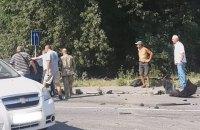 Очевидцы сняли на видео Петра Дыминского на месте смертельного ДТП