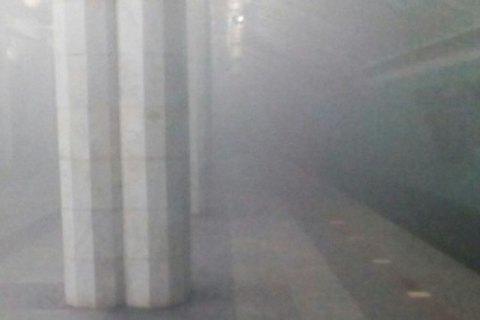 У Харківському метро кинули димову шашку