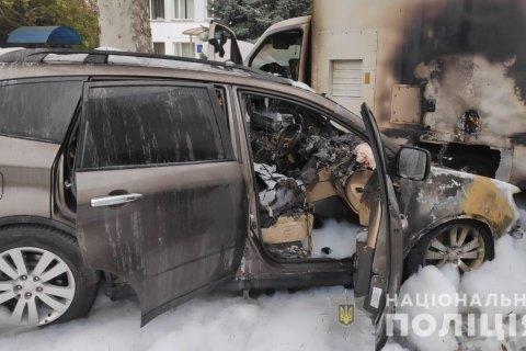 У Чорноморську спалили автомобіль митника