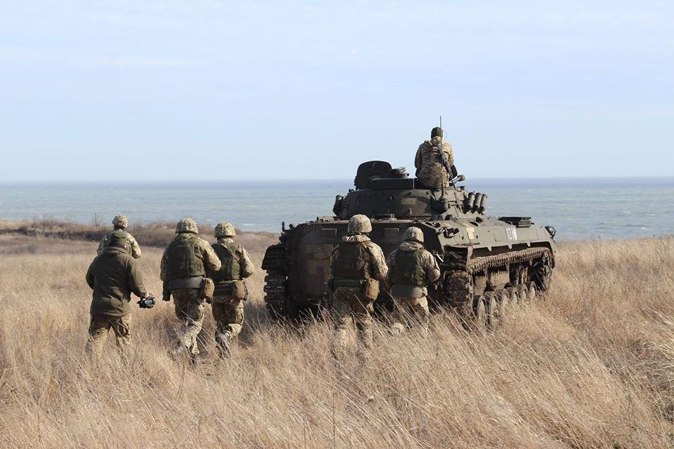 Тактичні навчання під назвою «Попутний вітер» на узбережжі Азовського моря, 28 лютого 2020