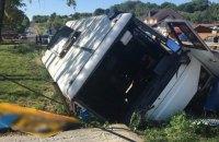 В Черновицкой области перевернулся автобус с пассажирами