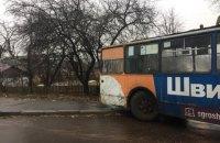 В Житомире из-за гололеда остановился общественный транспорт