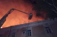 У Луцьку вночі через пожежу евакуювали військовий госпіталь