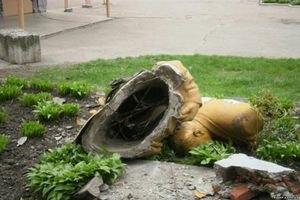 На Черкащині знесли пам'ятник Леніну