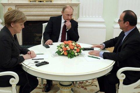 Меркель і Олланд у вихідні поговорять з Путіним про Україну