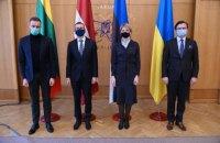 Руководители МИД стран Балтии выступили с совместным заявлением после встречи в Киеве