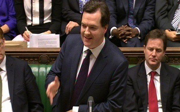 Джордж Осборн выступает в британском парламенте