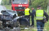 При столкновении двух иномарок в Винницкой области погибли четыре человека