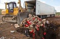 """Россільгоспнагляд відзвітував про знищені в рамках """"контрсанкцій"""" продукти"""