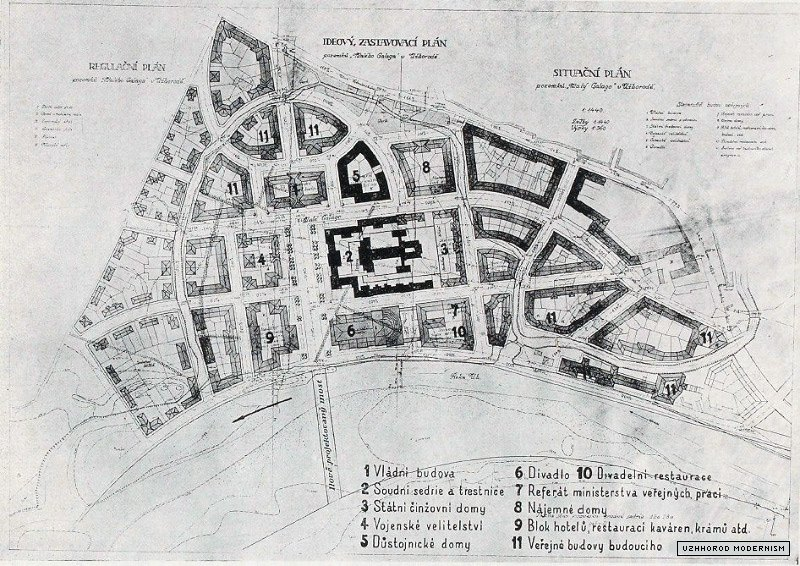 План Малого Ґалаґова, арх. Адольф Лібшер, 1923 рік