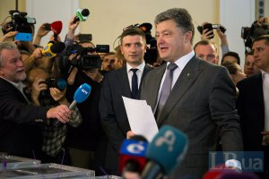 Национальный экзит-полл: Порошенко 55,9%, Тимошенко 12,9%