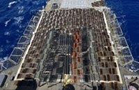 Американский крейсер задержал судно с российскими ракетами
