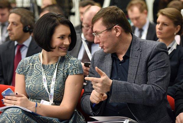 Соня Кошкина и Юрий Луценко, глава фракции БПП