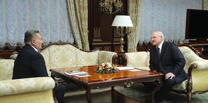 Встреча Александра Лукашенко и Евгения Марчука в Минске, 29 января 2019.