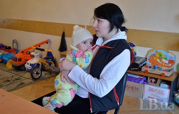 Наталья с соседским малышом Давидом