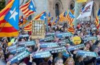 В Барселоне на улицы вышли более полумиллиона демонстрантов, вспыхнули столкновения с полицией