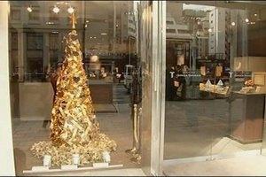 В Японии продают золотую елку за 2 млн. долларов