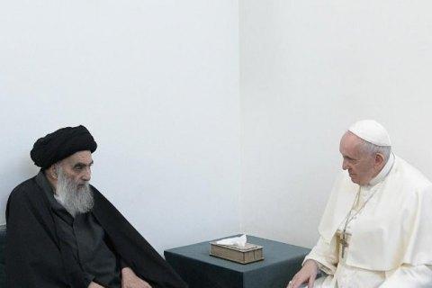 Состоялась историческая встреча Папы Римского с Великим Аятоллой Ирака