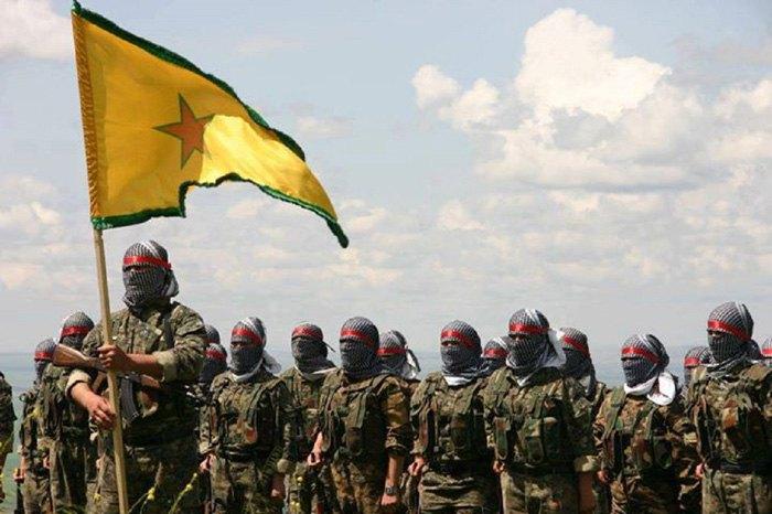 Курдские боевики YPG