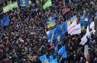 В Тернополе парализовано движение транспорта из-за акции оппозиции