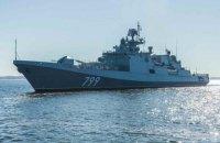 Російські бойові кораблі вийшли на навчання у Чорне море