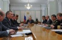 Путін і члени Радбезу РФ обговорили погіршення ситуації на Донбасі