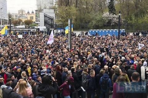 Петр Порошенко наОлимпийском: Япришел— тебя «нема»