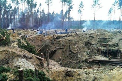 У Рівненській області копачі бурштину спробували відбити затриманих товаришів