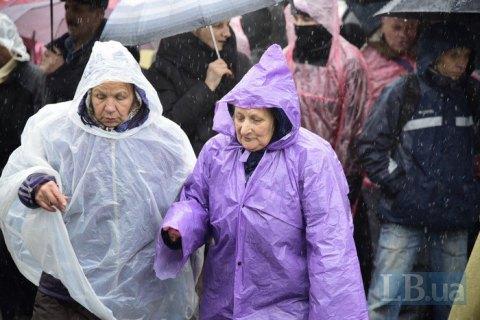 Во вторник в Киеве ожидаются дожди и похолодание до +3 градусов ночью
