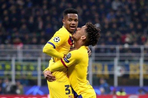 """Игрок """"Барселоны"""" стал самым молодым автором гола в истории Лиги Чемпионов"""