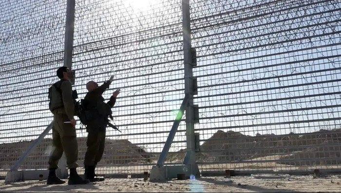Строительство модернизированного защитного барьера на границе с сектором Газа
