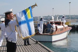 В Севастополе украинские и российские моряки отмечают День флота