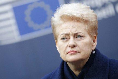 """Грибаускайте назвала """"позитивной агрессией"""" давление Трампа на союзников по НАТО"""