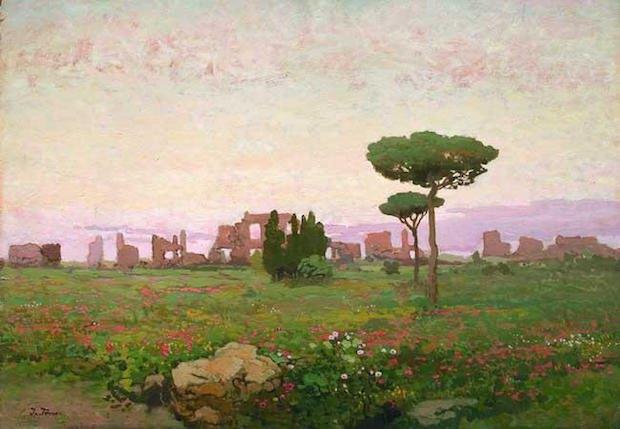 «Італійський пейзаж», 1930-ті роки. Олія, картон.