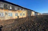 В Теребле на Закарпатье загорелись два многоквартирных дома для переселенцев