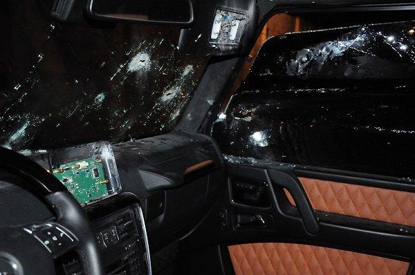 Расстрелянное авто Анисимова