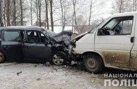 В лобовом ДТП в Ивано-Франковской области пострадали пять человек, один погиб