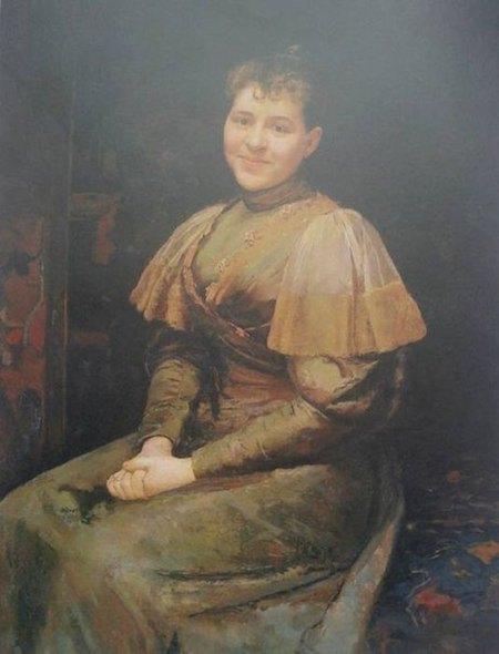 «Портрет дружини в зеленій сукні», 1893