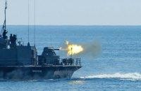 """Катер """"Прилуки"""" та фрегат НАТО провели спільні стрільби"""