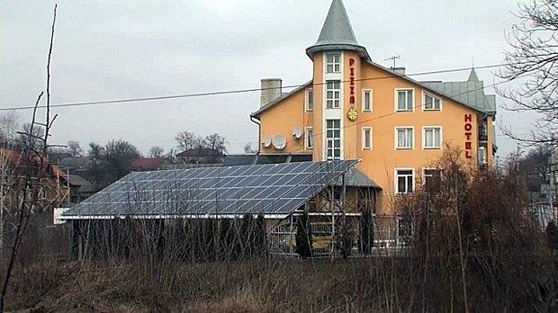 Первая в Украине бытовая солнечная электростанция запущена в г. Кицьмань в феврале 2015
