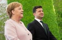 Зеленський і Меркель проведуть зустріч за вечерею в Берліні