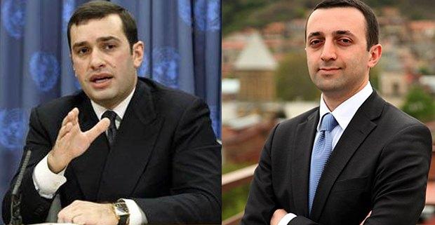 Ираклий Аласания(слева) и Ираклий Гарибашвили
