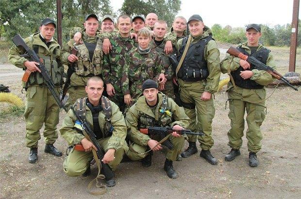 Бойцы батальйона <<Киевщина>>