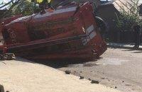 В Ивано-Франковской области перевернулась пожарная машина, которая ехала на вызов